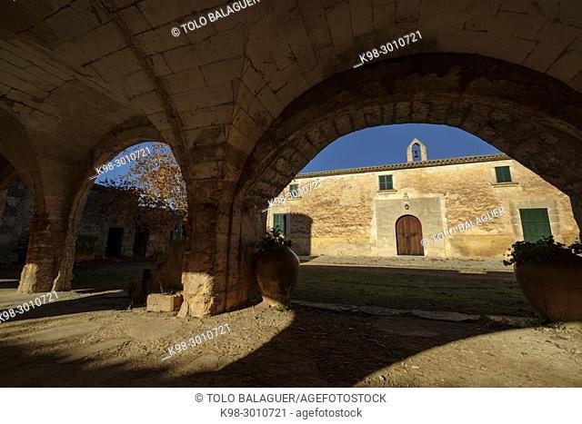 Son Xorc, posesion mallorquina documentada en el siglo XVII, Campos, Majorca, Balearic Islands, Spain