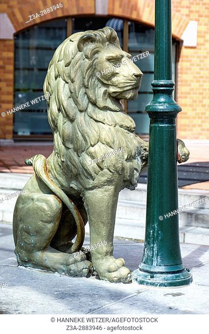 Lion at the kurhaus at Scheveningen, The Hague, The Netherlands, Europe