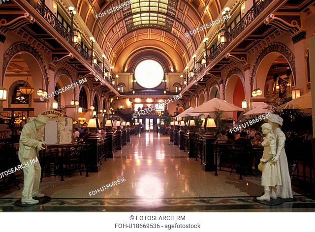Indianapolis, Union Station, IN, interior, Indiana, Restaurant inside Union Station in downtown Indianapolis