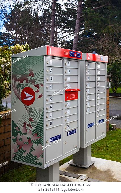 New design of neighbourhood mail boxes from Canada Post
