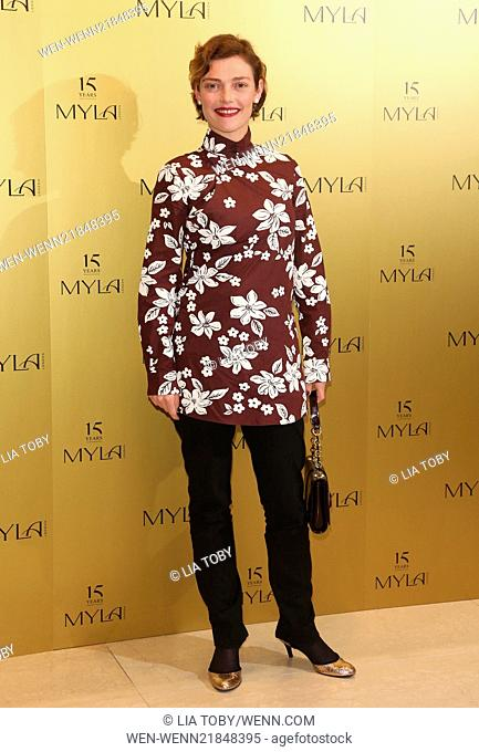 Myla 15th anniversary party - Arrivals Featuring: Camilla Rutherford Where: London, United Kingdom When: 21 Oct 2014 Credit: Lia Toby/WENN.com