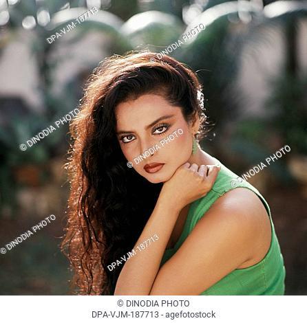 1981, Portrait of Indian film actress Rekha