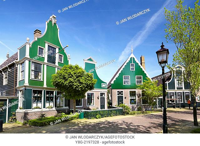Traditional architecture in Zaanse Schans - Holland Netherlands