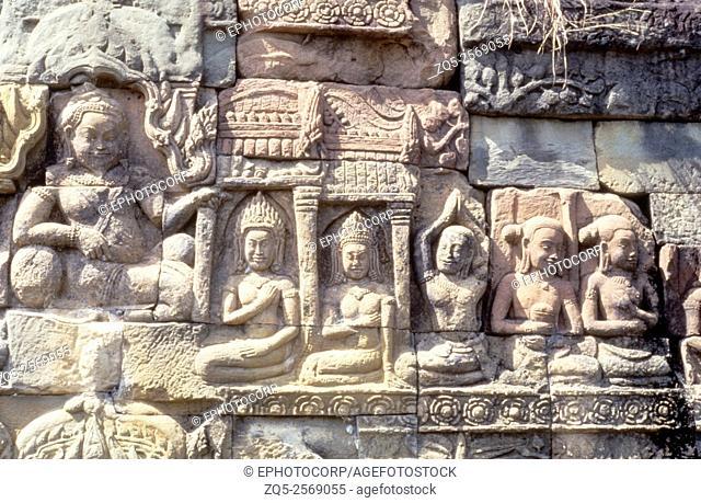 Ankor Neak Pean, terrace, Combodia