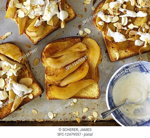 Pears on toast