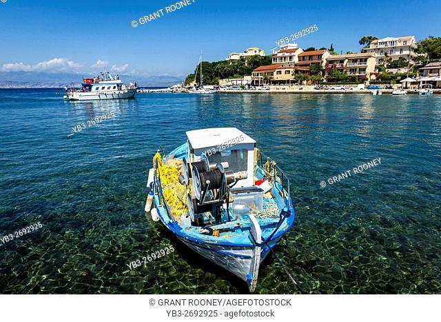The Seaside Resort Of Kassiopi, Corfu Island, Greece