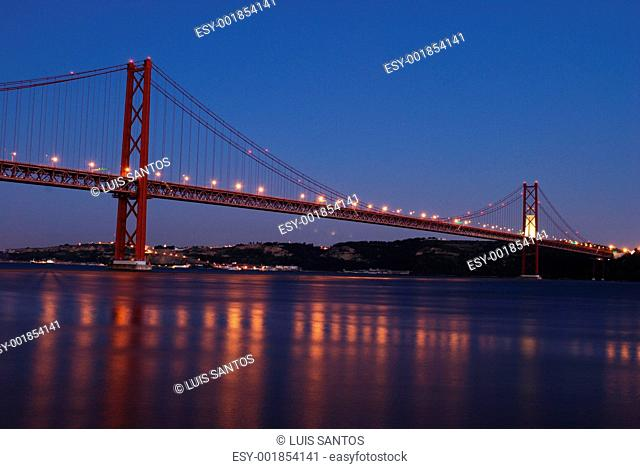 Lisbon Bridge - April 25th Night