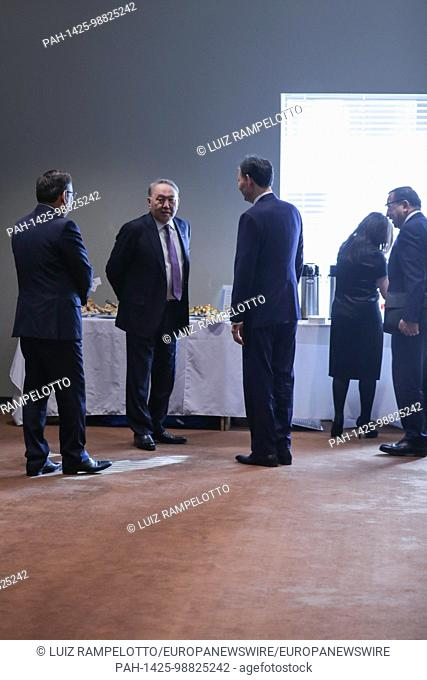 United Nations, New York, USA, January 18 2018 - Nursultan A. Nazarbayev, President of the Republic of Kazakhstan and President of the Security Council for the...