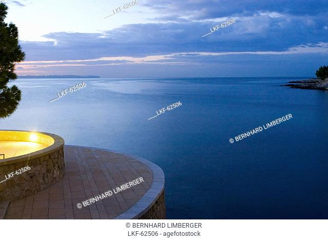 Hotel Maricel, pool, sunrise, Palma, Majorca, Spain