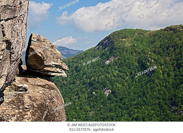 Chimney Rock, North Carolina - Devil's Head, a rock formation at Chimney Rock State Park