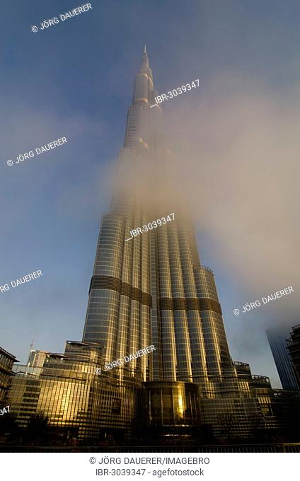Burj Khalifa, also known as Burj Dubai, in the morning light, the tallest building in the world