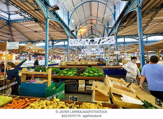 Les Halles, market building, Dijon, Côte d'Or, Burgundy Region, Bourgogne, France, Europe