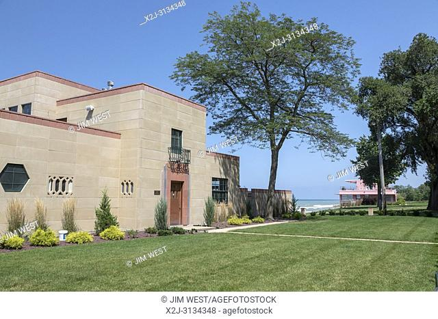 Beverly Shores, Indiana - The Century of Progress Historic District in Indiana Dunes National Lakeshore, at the southern end of Lake Michigan