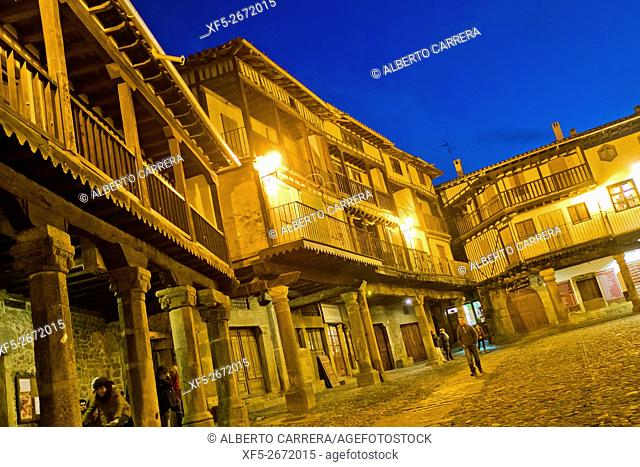 Main Square, Traditional Architecture, Medieval Town, Historic Artistic Grouping, Spanish Property of Cultural Interest, La Alberca, Salamanca, Castilla y León