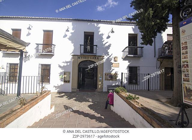 Cityscape in Ronda, Andalusia, Spain. Lara museum