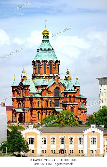 Helsinki, Finland. The Russian Orthodox Uspenski Cathedral. Consecrated 1868
