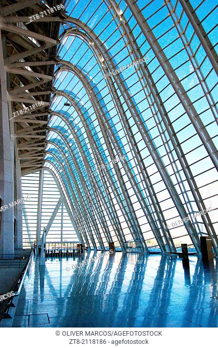 The City of Arts and Sciences is an architectural, cultural and entertainment complex in the city of Valencia, Comunidad Valenciana, Spain