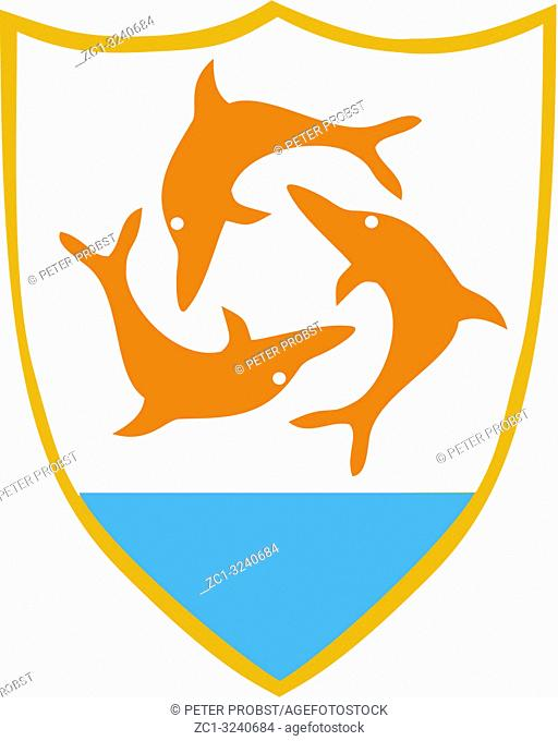 Coat of arms of the British overseas territory Anguilla