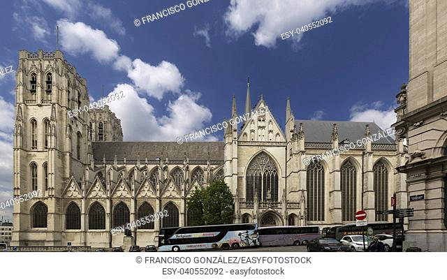 Cathedral of St. Michael and St. Gudula. Brussels, Belgium