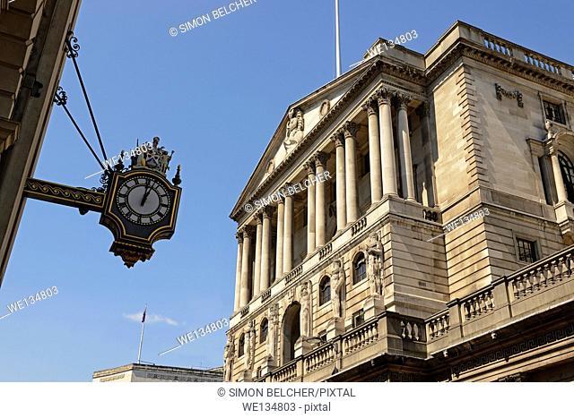 The Bank of England, Threadneedle Street, London, England, United Kingdom