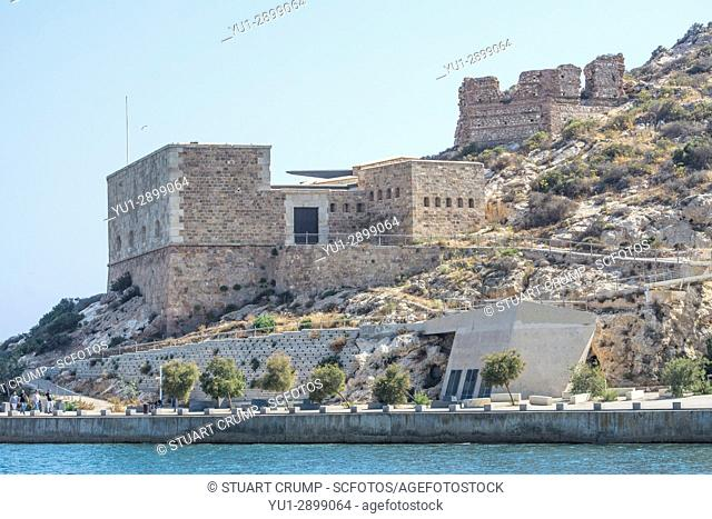 Fuerte de Navidad, Christmas fort at the entrance to the harbour in Cartagena Murcia Spain