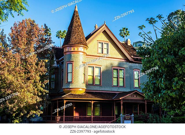 Christian House (built 1889) located at Heritage Park. San Diego, California, United States