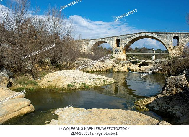 The Pont Julien is a Roman stone arch bridge over the Calavon River, in the Provence in south-east of France, dating from 3 BC