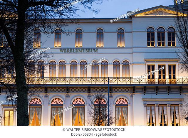 Netherlands, Rotterdam, Wereldmuseum, social history museum, dusk