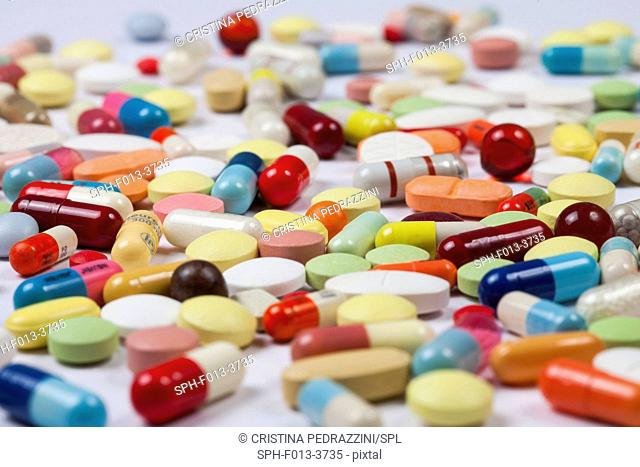 Pills and tablets, studio shot