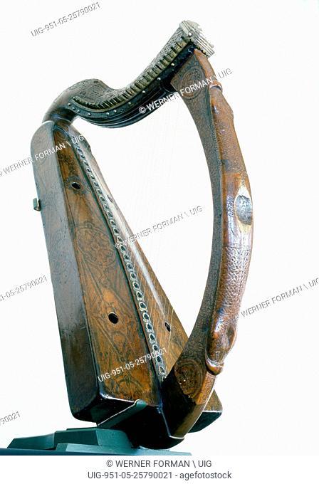 The Trinity College harp, also known as Brian Borus Harp, is medieval Irish harp or wire strung clairseach