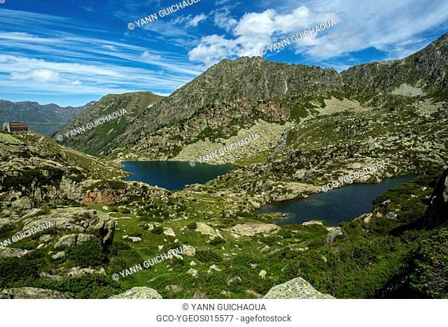 Lakes Of Coume Escure And La Glere, Hautes Pyrenees, France