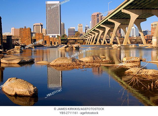 Richmond Virginia Reflected in the James River