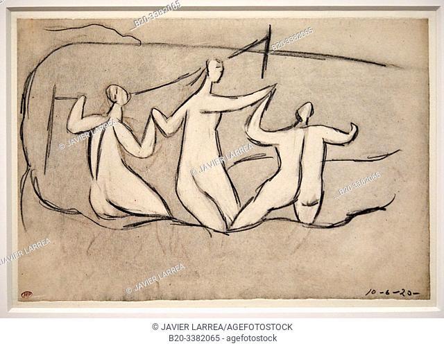 """Trois Baigneuses"", 1920, Pablo Picasso, Picasso Museum, Paris, France, Europe"