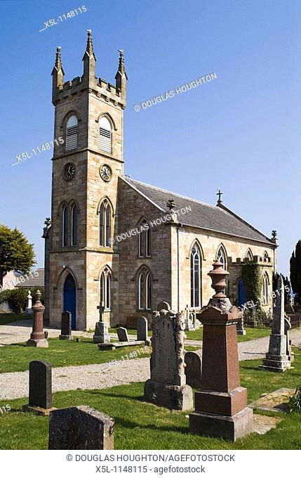 ROSEMARKIE ROSS AND CROMARTY Church of Scotland kirk and gravestone cemetery