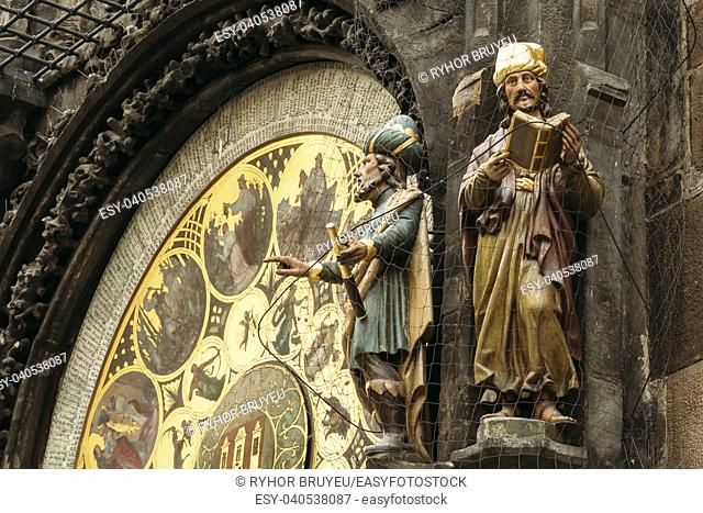 The Prague astronomical clock, or Prague orloj is a medieval clock located in Prague, the capital of the Czech Republic