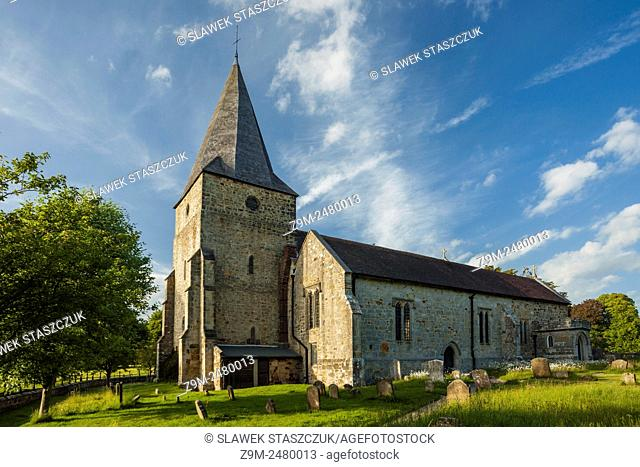 Summer afternoon at St Margaret church in Buxted Park near Uckfield, East Sussex, England, United Kingdom. High Weald