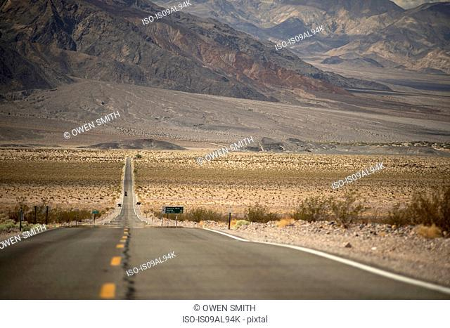View on Highway 190, Death Valley National Park, California, USA