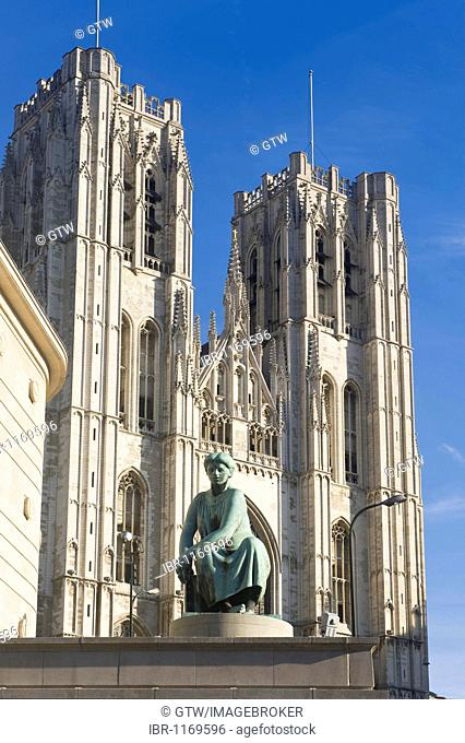 St. Michael and St. Gudula Cathedral, Brussels, Brabant, Belgium, Europe