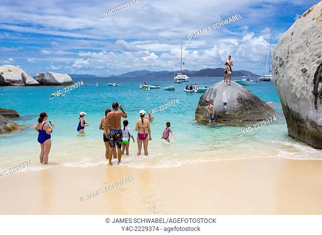 Devil's Bay in the Baths on the Caribbean Island of Virgin Gorda in the British Virgin Islands