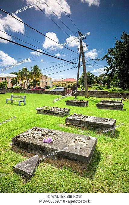 St. Kitts and Nevis, Nevis, Charlestown, Jewish cemetery, 16th-17th century