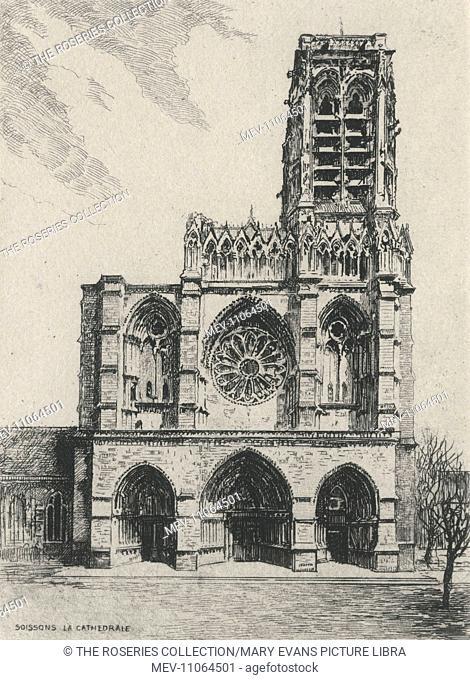 Soissons Cathedral Basilica (Basilique Cathedrale Saint-Gervais-et-Saint-Protais de Soissons) - Soissons, Aisne Department, Picardy, France