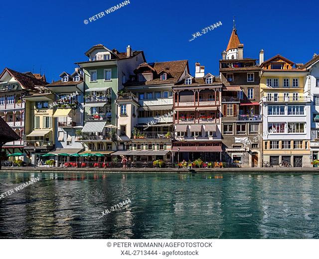 Old Town of Thun at the Lake Thun, Bernese Oberland, Canton of Bern, Switzerland, Europe