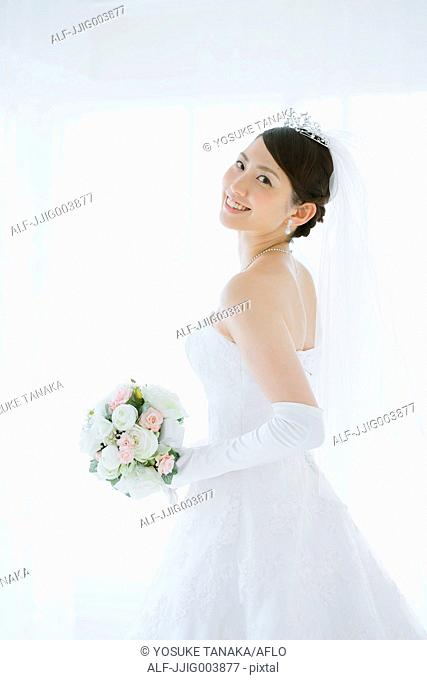 Attractive Japanese bride