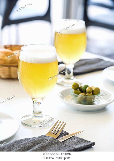 Clara (lemon beer) served in Spain