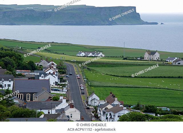 Ballintoy on the Seaside drive, Coast Road, County Antrim, Northern Ireland