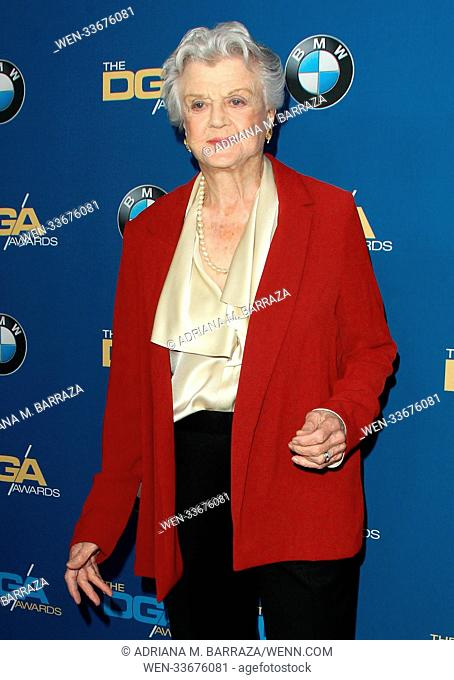 70th Annual DGA Awards 2018 Arrivals held at the Beverly Hilton Hotel in Beverly Hills, California. Featuring: Angela Lansbury Where: Los Angeles, California