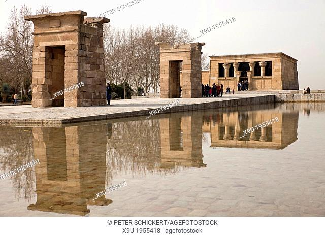 egyptian temple Templo de Debod in Madrid, Spain, Europe