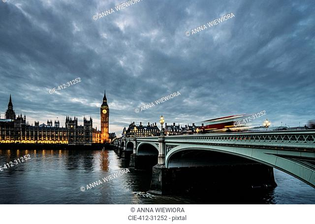 Clouds over Big Ben and Houses of Parliament, London, United Kingdom