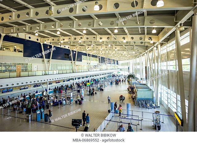 Netherlands, Sint Maarten, Maho Bay, Princess Juliana Airport Terminal, interior