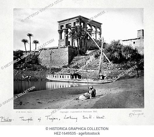 The Temple of Trajan, looking south-west, Philae, Egypt, c1860-1890